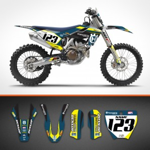 Husqvarna Bicolor backgrounds kit