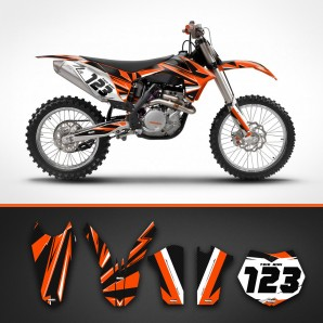 KTM carbon radiator shrouds set