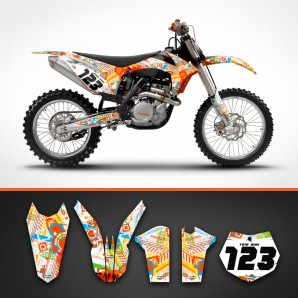 KTM Crazy colour fork guard set
