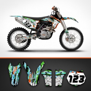 KTM robots backgrounds kit