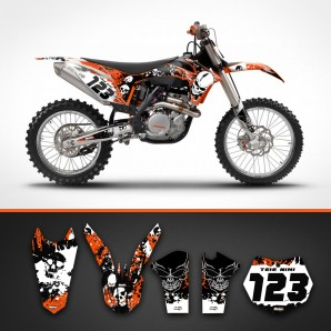 KTM skulls rear guard set