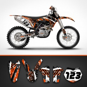 KTM stripes radiator shrouds set