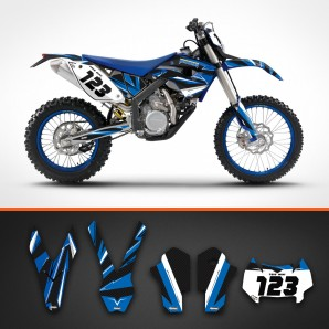 Husaberg carbon backgrounds kit