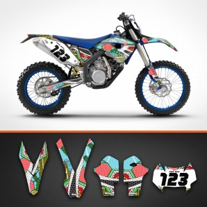 Husaberg nanotech backgrounds kit