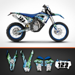 Husaberg robots fork guard set
