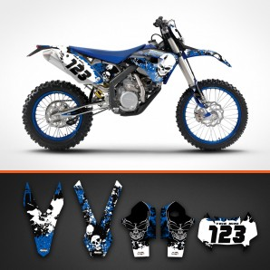 Husaberg skulls backgrounds kit