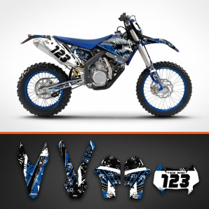 Husaberg stripes backgrounds kit