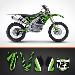 Kawasaki carbon backgrounds kit