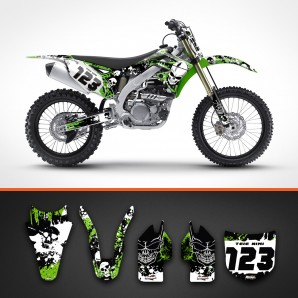 Kawasaki skulls backgrounds kit