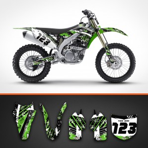 Kawasaki stripes backgrounds kit