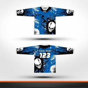 Yamaha skulls Racing jersey