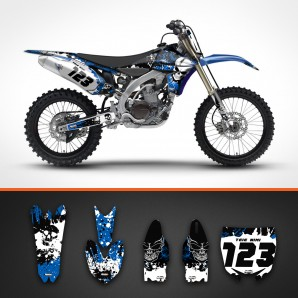 yamaha skulls rear guard set